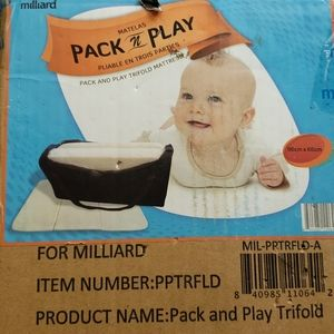 Brand new milliard pack n play mattress